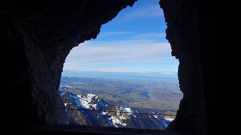 Vista de Lucerna de cima do Monte Pilatus