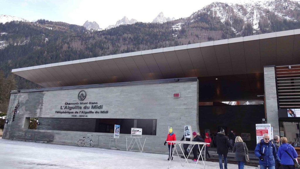 Estação de teleférico - Mont Blanc