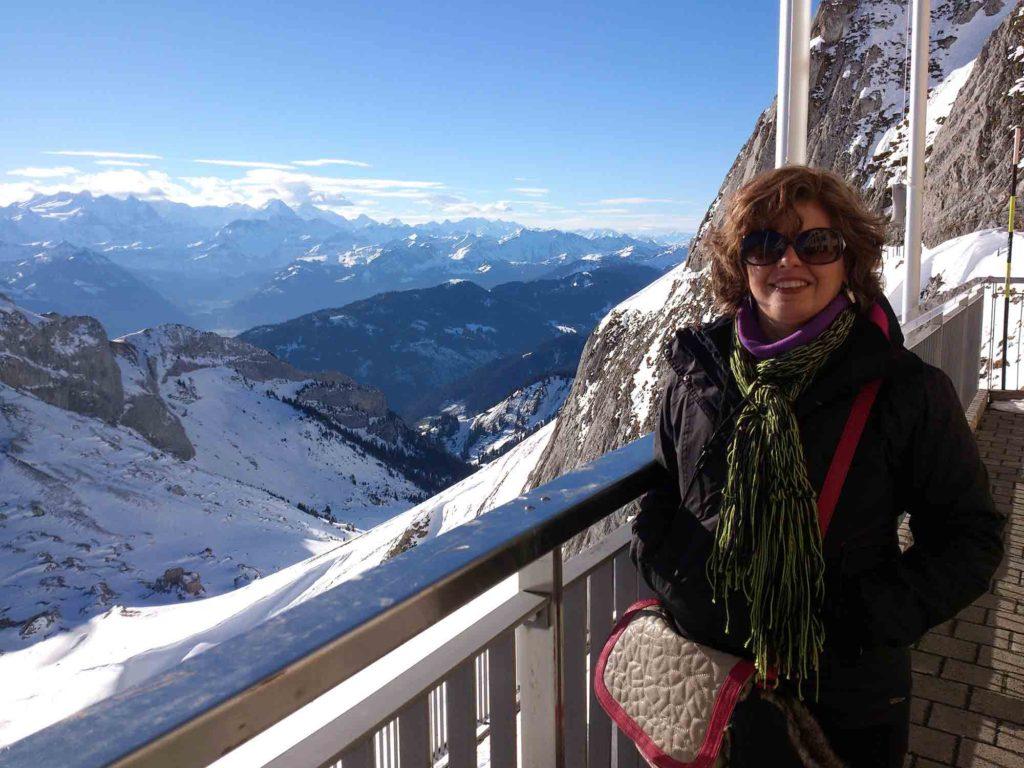 Eu, no Monte Pilatus - Lucerna