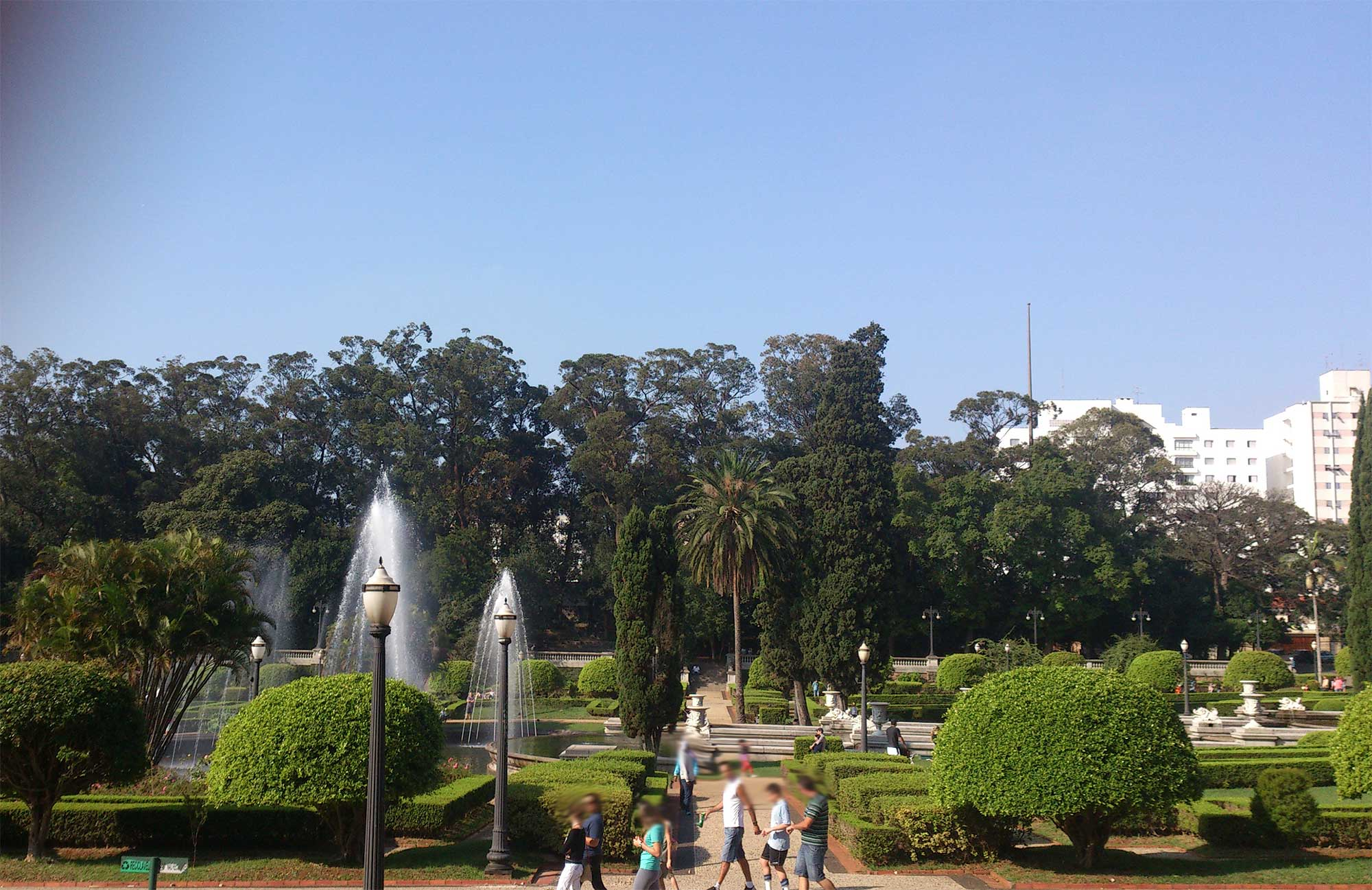 Jardins do Museu do Ipiranga