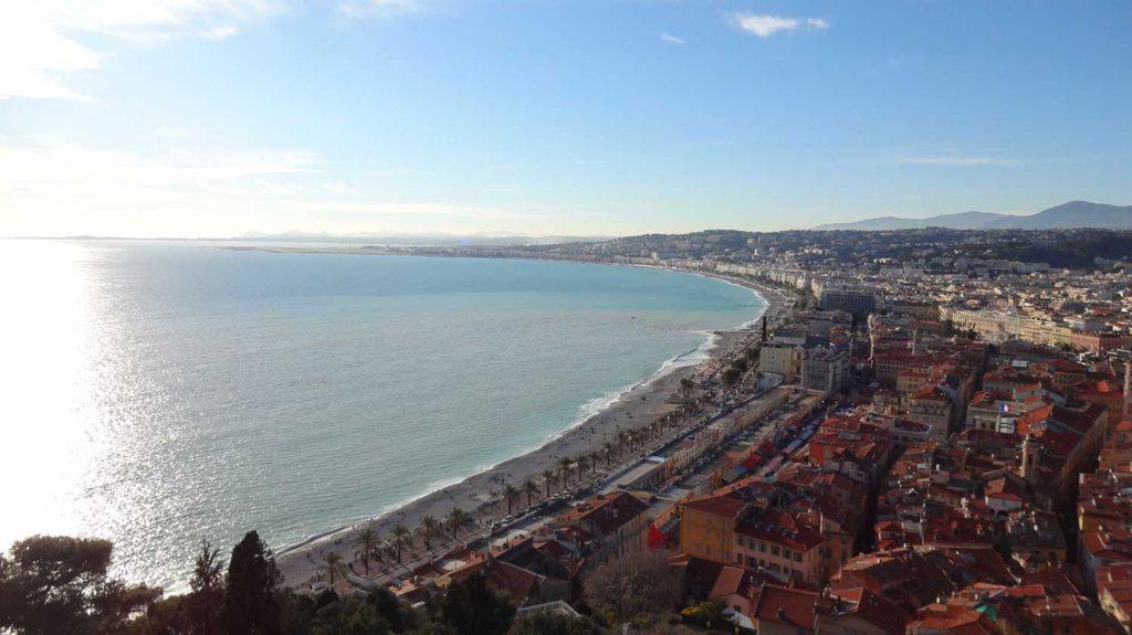Praia de Nice - Vista do Montée du Chateau