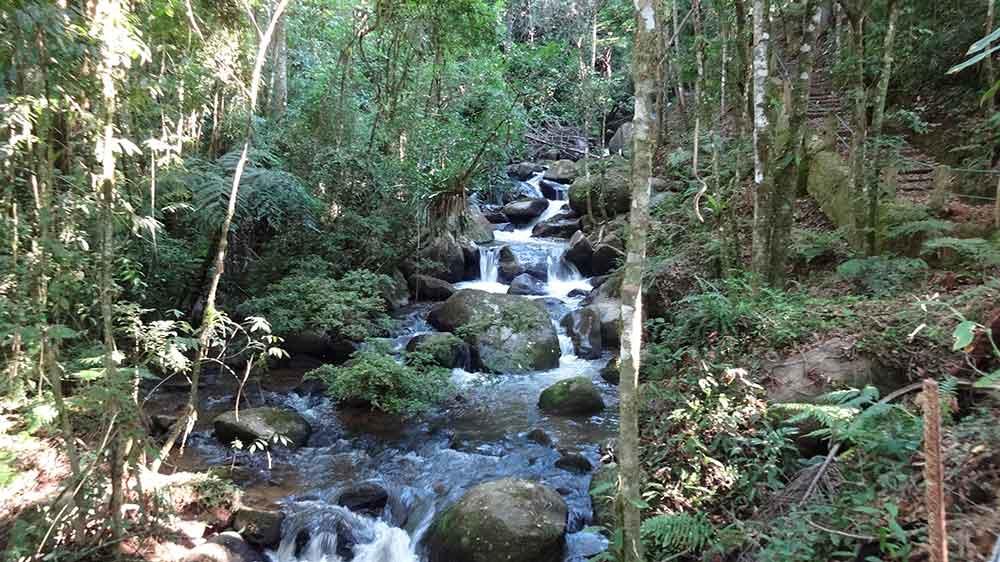 Cachoeira na Trilha das Bromélias - Gonçalves - Cidades de Minas Gerais