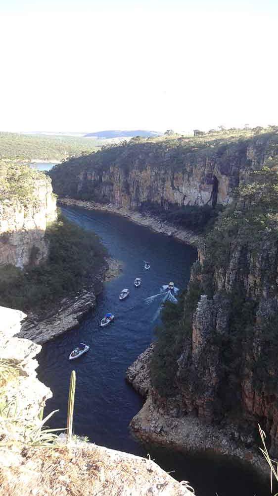 Vista de cima dos Canyons