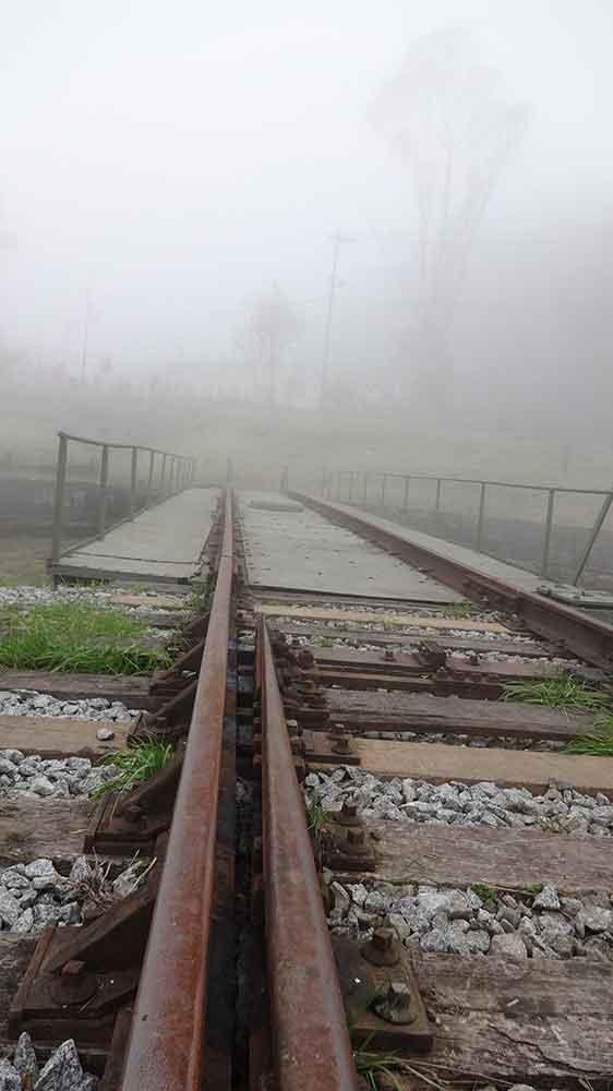 Trilhos de Manobras das Locomotivas - Paranapiacaba