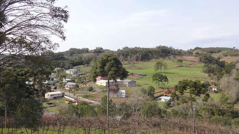 Vista da Vinícola Fontanari - Caminhos de Pedra