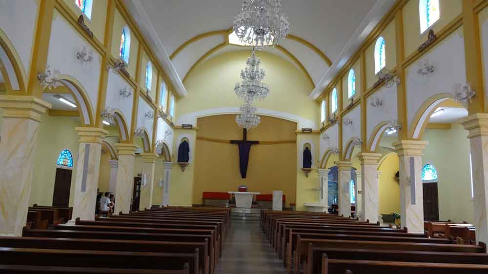 Interior da Igreja São Benedito