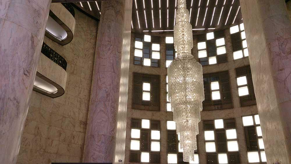 Lustre do Hall de Entrada - Farol Santander