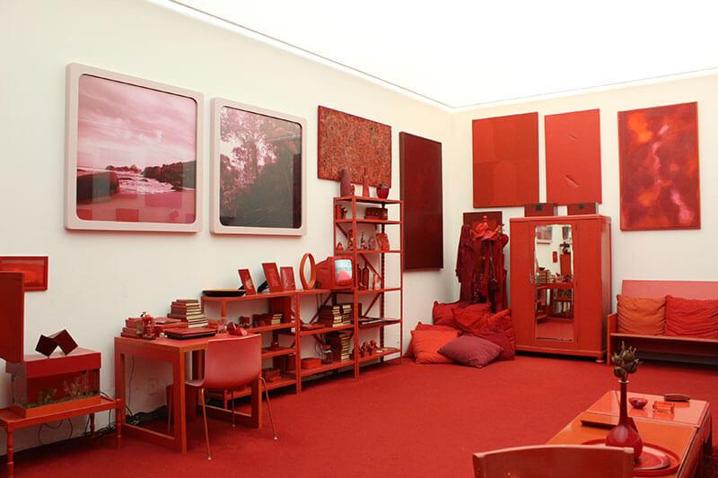 Obra Desvio para o Vermelho - Galeria Cildo Meireles - Museu de Arte Contemporânea