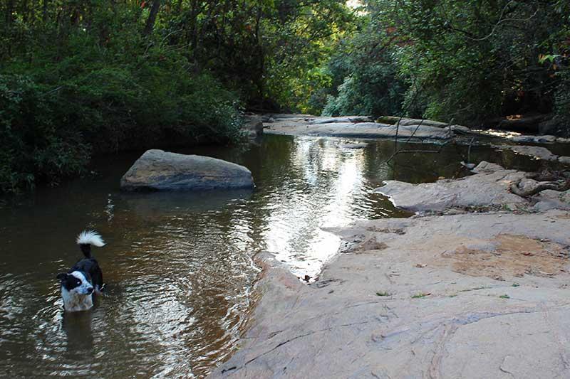 Guia Galã Cachoeira Machado I - Mostrando onde pode nadar