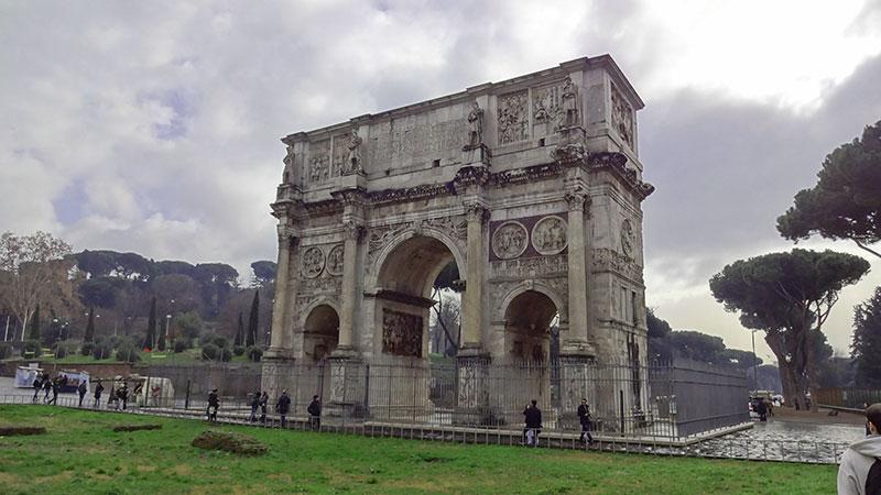 Arco de Constantino - Roteiro Roma
