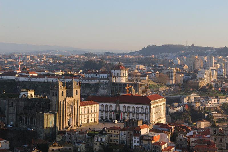 Paço Espiscopal e Sé do Porto - Vistos de cima da Torre dos Clérigos