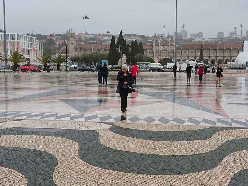 Eu, na tempestade em Lisboa